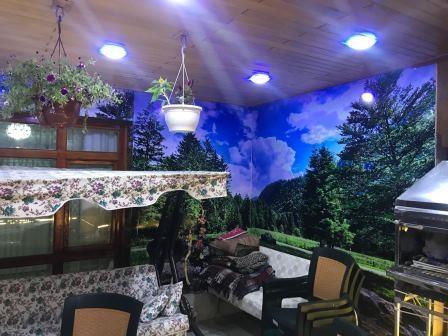 Düz tavanlı dekoratif teras kapatma modeli
