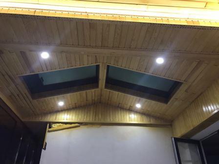 Dekoratif sunrooflu teras kapatma modeli