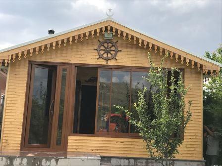 Ahşap ev teras kapatma ve kış bahçesi