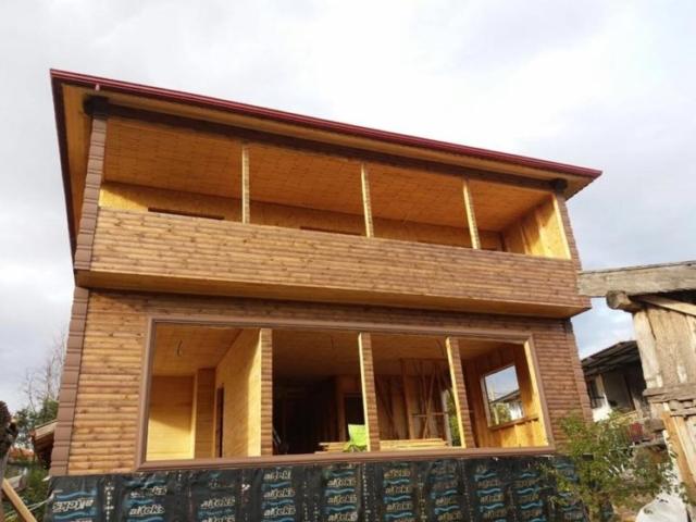 En son yaptığımız ahşap evlerden biri
